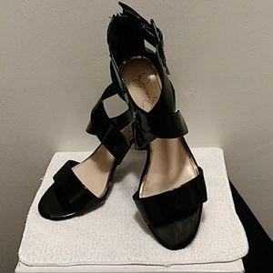 Jessica Simpson Black Patent sandals NWOB